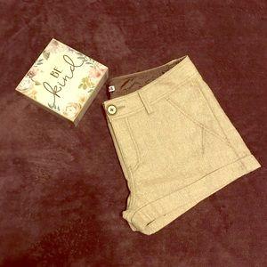 Express Tan Gold Shimmer Winter Shorts